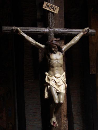 La cruz que la Hna. Clare besó