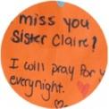 ¡Te echamos de menos, Hna. Clare!